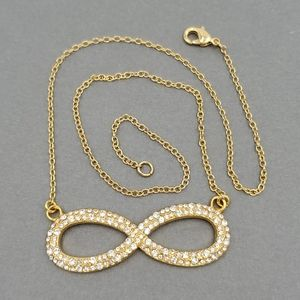 CC Skye Gold & Crystal Infinite Necklace